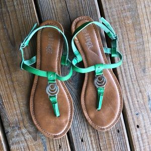 Rouge Green Strappy Sandals-10